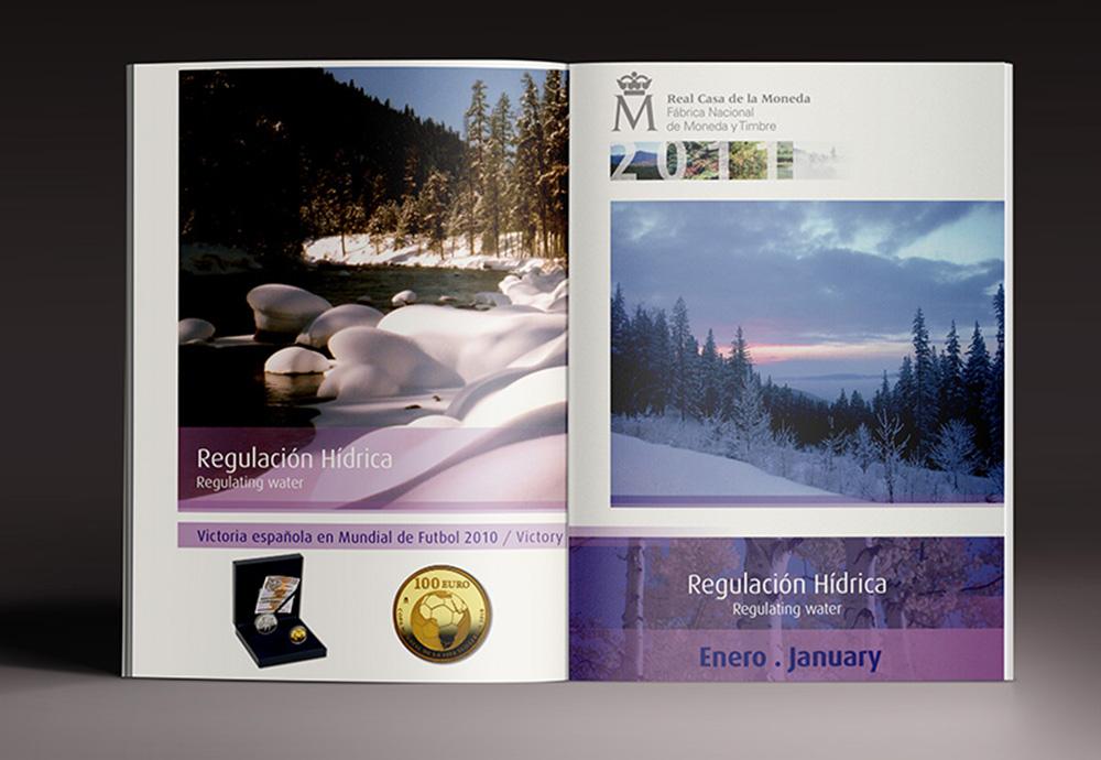 Diseño agenda Real Casa de la Moneda